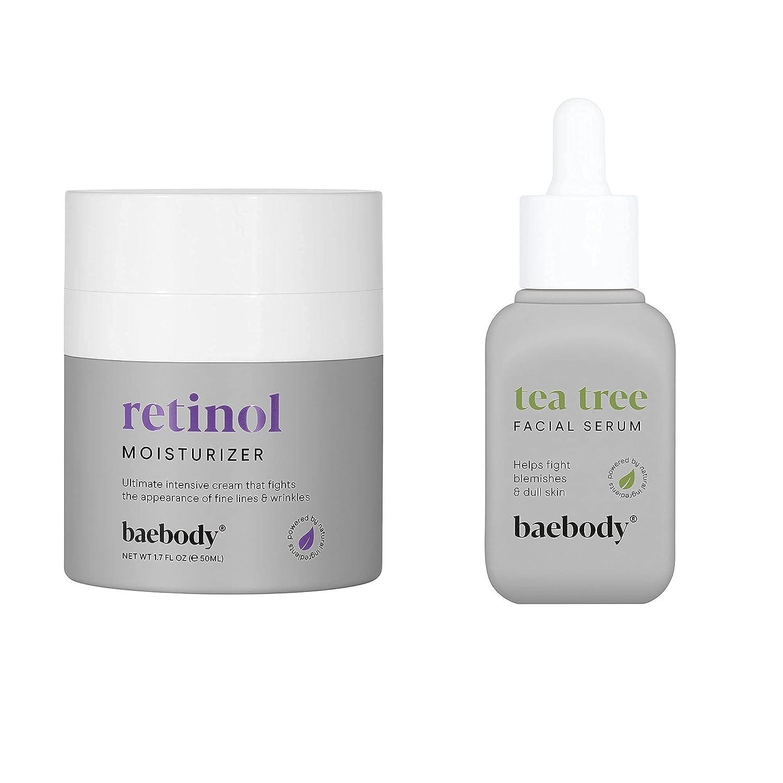 Baebody 2021 new Max 68% OFF Retinol Cream Moisturizer Tea Oil Bundle Tree Serum