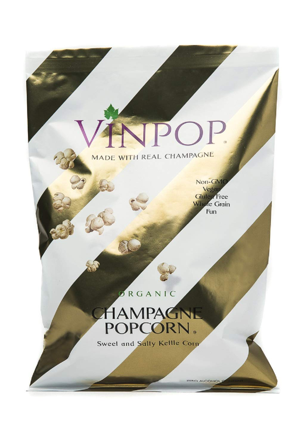 VINPOP Organic Popcorn - Champagne 2 Ounce 5 w Bag overseas Pack Now on sale Made