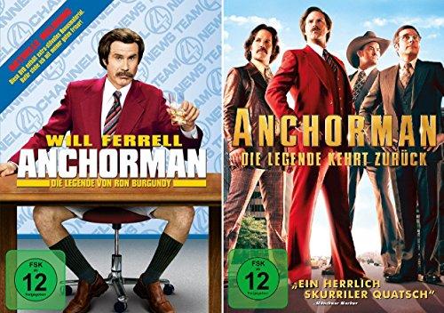 Anchorman - Die Legende von Ron Burgundy + Die Legende kehrt zurück im Set - Deutsche Originalware [2 DVDs]