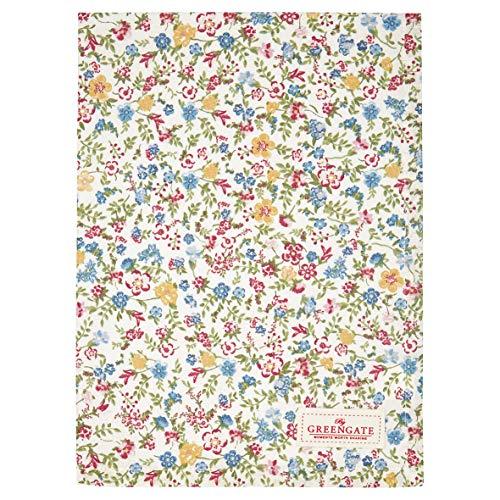 GreenGate - Paño de cocina, paño de secado, paño de cocina - Sophia - blanco - algodón - 70 x 50 cm