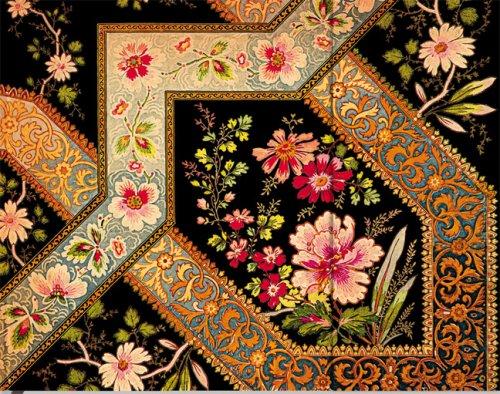Blumenpracht Bukett auf Ebenholz - Notizbuch Gästebuch Liniert - Paperblanks