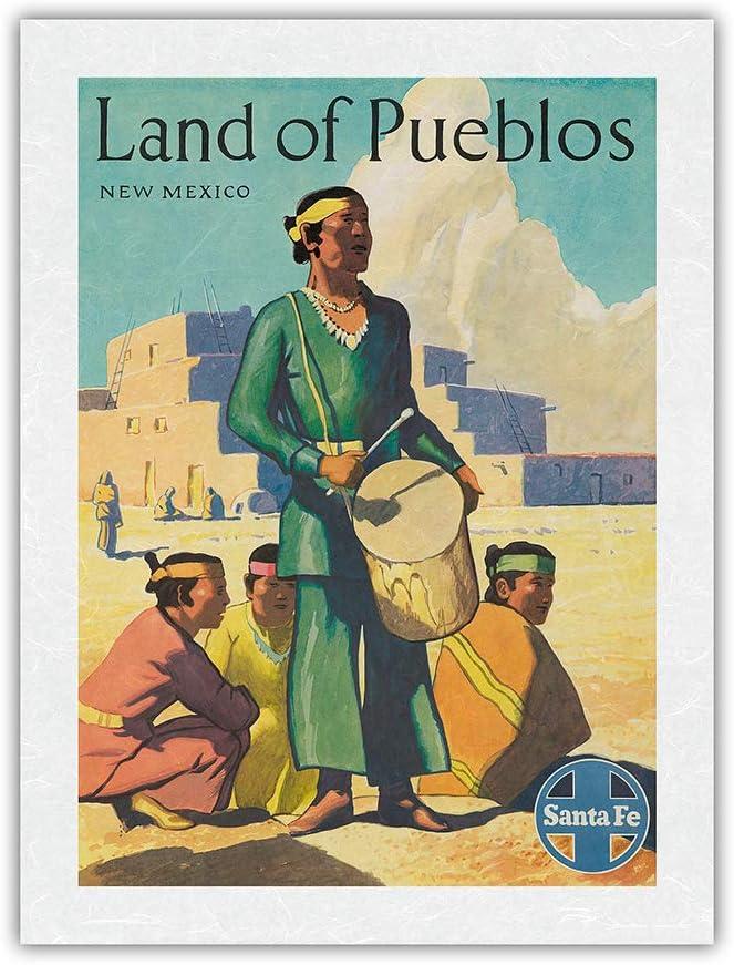 Land of Genuine Free Shipping Pueblos New Mexico - Puebloans Vin Santa Fe Max 71% OFF Railroad
