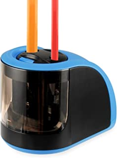 Electric Pencil Sharpener, KKTICK 2-Hole USB or Battery Operated Pencil Sharpener for No.2 and Colored Pencils, Portable Small Sharpener Best for Kids Office Classroom Artists