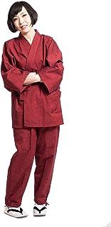 作務衣 さむえ レディース 日本製 通年 おしゃれ samue 藍紬 久留米 女性 綿 無地 紬織 ギフト プレゼント 母の日 敬老の日