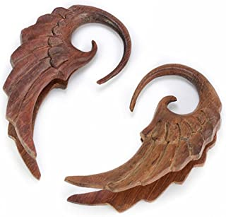 Price Per 1 Organic Body Jewelry 5mm up to 51mm Coconut Wood Tunnel