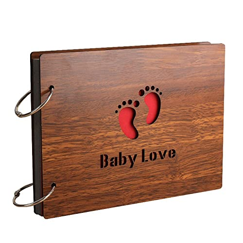Sehaz Artworks Baby Love Scrapbook Photo Album for Memorable Gift on New Born Baby Birthdays, Niece, Nephew First Birthday for Couples (22 cm x 16 cm x 4 cm, Brown)