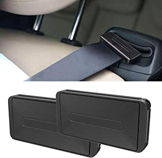 RED SHIELD Car Safety Seatbelt Clips. Vehicle Seat Belt Buckle Stopper Clamp Adjuster for Relaxing Neck & Shoulder. Reduce Irritation with Strap Positioner While Driving. Easy to Use. [2PK / Black]