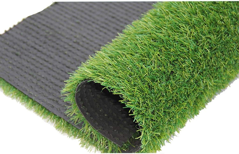Artificial Grass Mat Carpet Outdoor Fake Lawn Green Natural Realistic Garden Amusement Park Lawn Dog Pet 20mm Pile Height (1M  2M) (Size   1x11m)