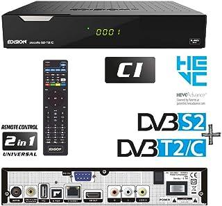 Edision PICCOLLO S2+T2/C, 10 Bit Ricevitore CI COMBO con lettore di schede, due sintonizzatori, un satellite per DVB-S & S...