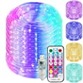 Solhice 50ft LED Rope Lights Color Changing, 150 LEDs USB Powered Bedroom Indoor RGB Tube Fairy Lights with Remote Control for Wedding Party Waterproof Outdoor Decorations