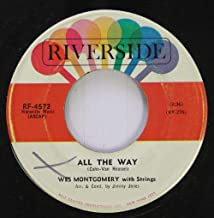 Wes Montgomery with Strings 45 RPM All The Way / Pretty Blue