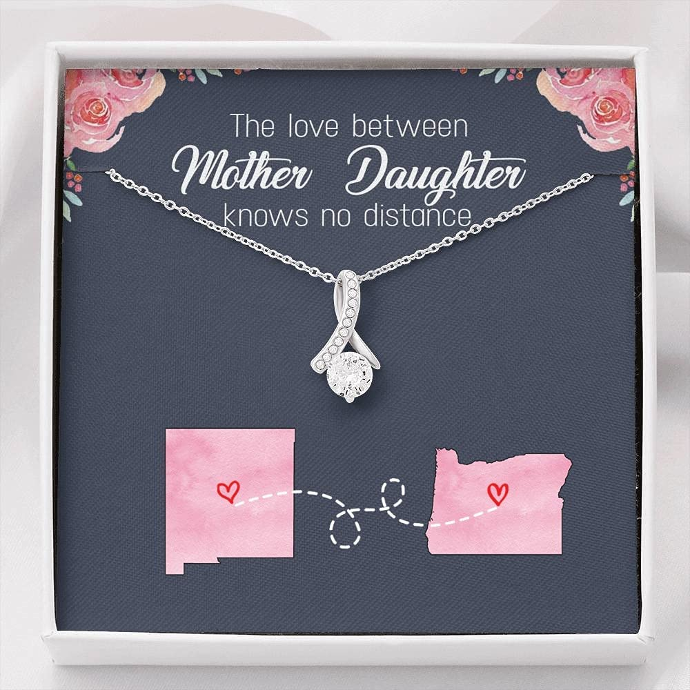 FamilyGift New Columbus Mall Mexico Oregon Necklace for Mom Th Award-winning store from Daughter -