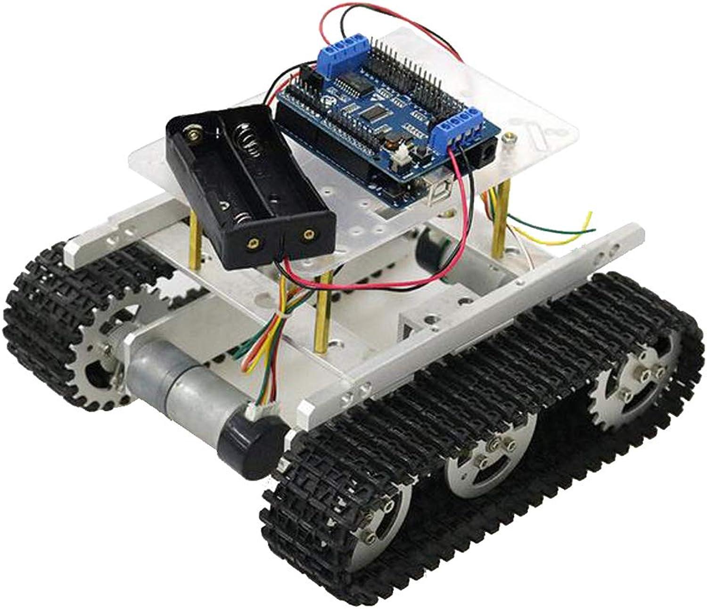 F Fityle Roboter Panzerwagen-Plattform Tankchassis mit Dual-DC-Motor + Entwicklungsboard