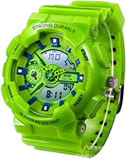 Show Two Time Waterproof Wrsit Watches with Silicone Band