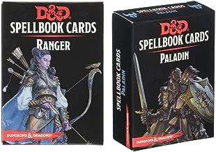 D&D: Spellbook Cards Bundle Including Ranger Spellbook Deck and Paladin Spellbook Deck by Gale Force Nine (2 Items)