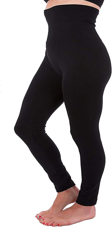 High Waist Full Length Waist Compression Brushed Warm Winter Tummy Control Pants Plus Size L XL 2XL