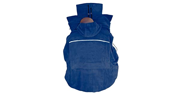 Marine w/ärmendes Tragecover f/ür Tragehilfen HOPPEDIZ Fleece-Cover Basic Blau