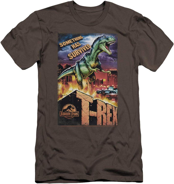 9bb61088a55e Jurassic Jurassic Jurassic Park - Mens Rex in The City Premium Slim Fit T- Shirt a39bc4