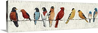 The Usual Suspects - Birds on a Wire Canvas Wall Art Print, 36