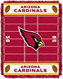 Officially Licensed NFL Arizona Cardinals 'Field' Woven Jacquard Baby Throw Blanket, 36' x 46', Multi Color