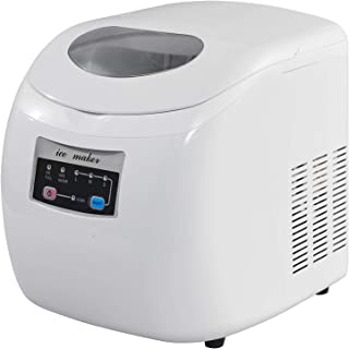 WOLTU EM03ws Machine à glaçons 12kg réservoir d'eau de 2,8 litres,Ice Maker Machine à Glace 120W,Blanc