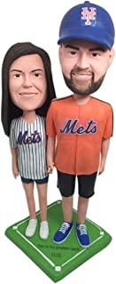 New York Mets Wedding Girlfriend Boyfriend NY Mets Figurine di argilla personalizzate Baseball Wedding Cake Topper Regalo ...