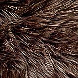 "Barcelonetta | Faux Fur Squares | Shaggy Fur Fabric Cuts, Patches | Craft, Costume, Camera Floor & Decoration (Dark Brown, 10"" X 10"")"