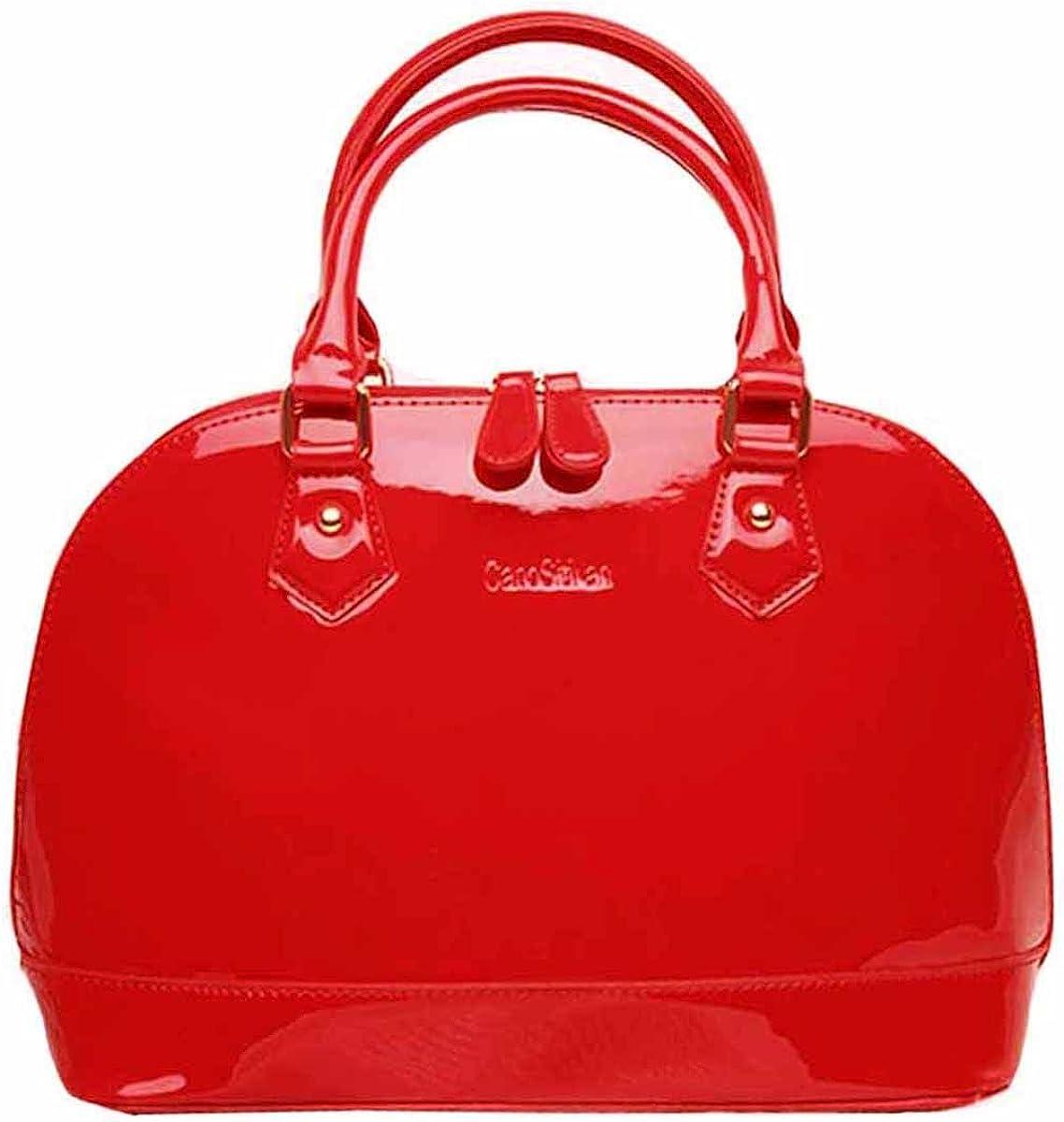 Goodbag Boutique Lady Patent Leather Handbag Satchel Tote Handbag Shell Bag Jelly Shoulder Bag Top Handle Bags