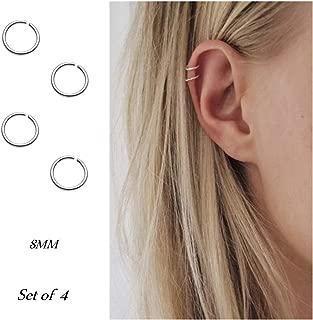 Hoop cartilage earring fake earrings nose rings septum nose ring stainless steel for women men girls