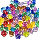 FUNLAVIE Multi-Colored Acrylic Jewels Pirate Treasure Gems for Party Decorations Supplies, Wedding Decorations and Vase Fillers 90Pcs