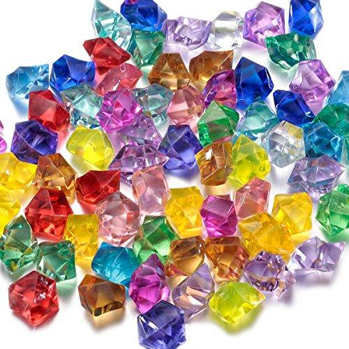 FUNLAVIE Gemmes Coulorées en Cristal Diamant Acrylique Trésor de Pirate Gemmes Remplissage du Vase Mariage Décoration de Table à Saupoudrer Cristaux/Diamants/Confettis