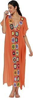 e7b2cecd1183c Qunlei Mommy and Me Bikini Swimsuit Cover up Dress V-Neck Family Matching  for Women