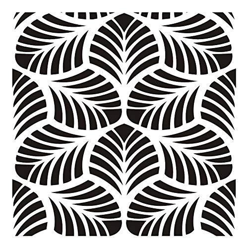 ZSLGOGO Plantillas de Pintura Mandala Dot de 30x30 cm Planti