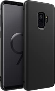EasyAcc Slim Case for Samsung Galaxy S9, Matte Black TPU Phone Cases Ultra Thin Fit Basic Finish Profile Back Protective Cover Compatible with Samsung Galaxy S95.8