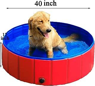 GRULLIN Pet Swimming Pool Portable Foldable Pool Dogs Cats Bathing Tub Bathtub Wash Tub Water Pond Pool