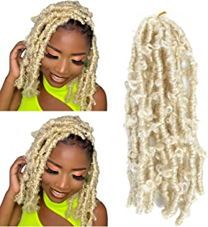 12inch 613 Butterfly Locs Crochet Hair 6 Pack Short blond Butterfly Locs Hair Pre Looped Distressed Locs Braids Hair