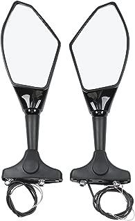 Black Rearview Mirrors w/LED Turn Signal Light Len For Honda CBR600RR CBR1000RR VTR 1000F VFR 800 Interceptor