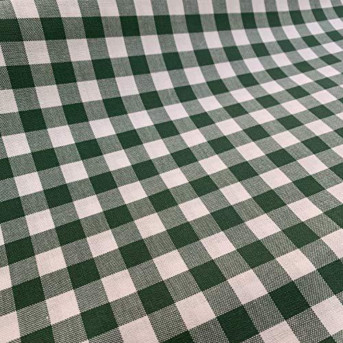 Tela de cuadros Vichy | 2,50m x 1,50m | cuadro mediano | Color a escoger | Para la confección de manteles, proyectos de costura, bordado español y manualidades | de DELICATELA (VERDE)
