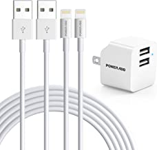 iPhone 12 Charger, [Apple MFi Certified] Lightning Cable 2 Pack 6.6ft Fast iPhone Wall Charger Dual Port Plug Adapter Data...