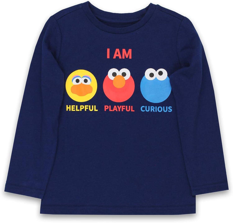 Isaac Mizrahi Loves Sesame Street Elmo Toddler Baby Long Sleeve T-Shirt Tee (2T, Navy)
