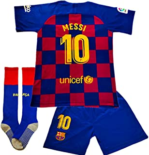 New 19-20 Season 10 Messi Barcelona Home Kids/Youth Soccer Jersey