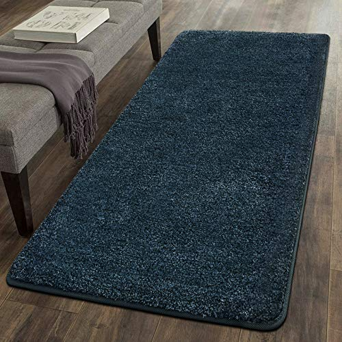 Color&Geometry Area Rugs for Living Room, 3 x 5 Feet Machine Washable Non-Slip Home Decor Floor Rug Carpet for Bedroom, Kids Room, Baby Room, Girls Room, and Office, Blue