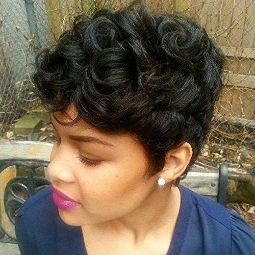 Perruques de cheveux humains qualité mère réalité moelleux haut de gamme élégant naturel noir cheveux bouclés Mesdames