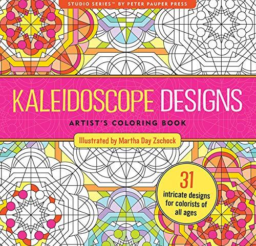 Kaleidoscope Designs Adult Coloring Book (31 stress-relieving designs) (Studio)