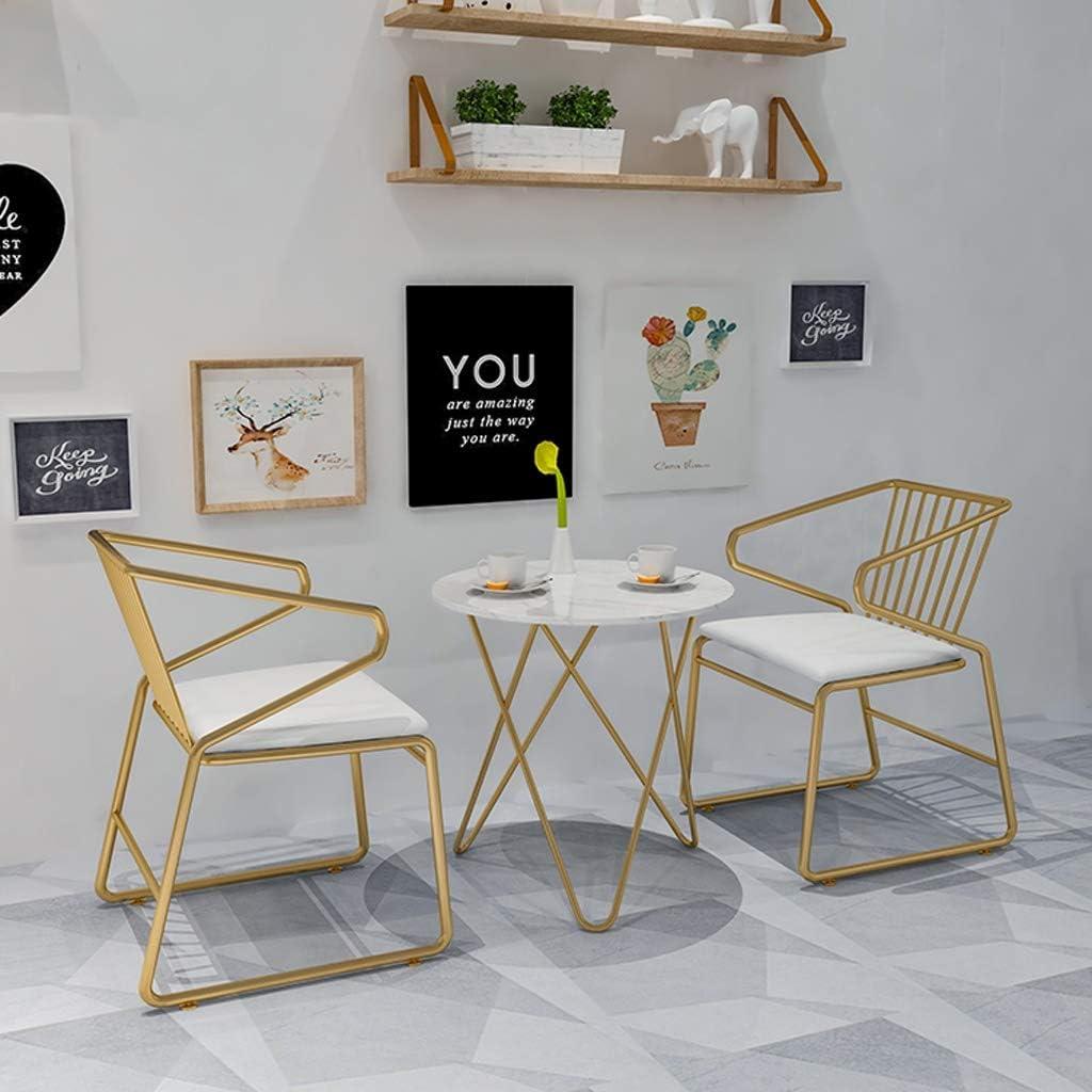 HXF- Chaise de Salle, Chaise de Bureau Simple, créative Dossier, Chaise Loisirs, Maison Adulte Chaise de Salle Durable (Color : Gold) Gold