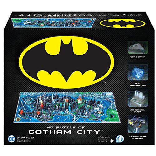 4D Cityscape Batman Gotham City 3D Time Puzzle (1000 Piece)