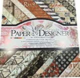 Suixi 40 Blatt Dekorpapier Gemustertes Karton Bastelpapier Vintage Design Scrapbooking
