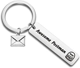 MYOSPARK Mail Carrier Gift Awesome Postman Keychain Mailman Jewelry Thank You Gift for Postal Worker