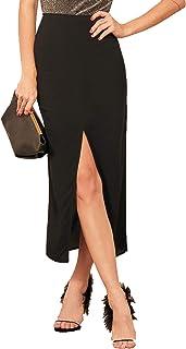 ADDYVERO Ankle Length Center Front Slit Women Skirt