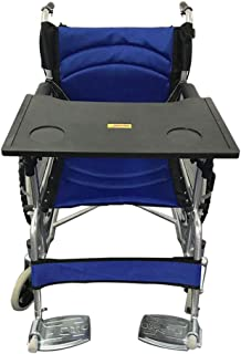 Wheelchair Lap Tray Table with Cup Holder Plastic Lap Tray Medical Portable Child Chair Tray Desk Accessories for Play Computer, Eating Snack, Reading (Suitable for 16-18 Inch Wheelchairs) (Black)
